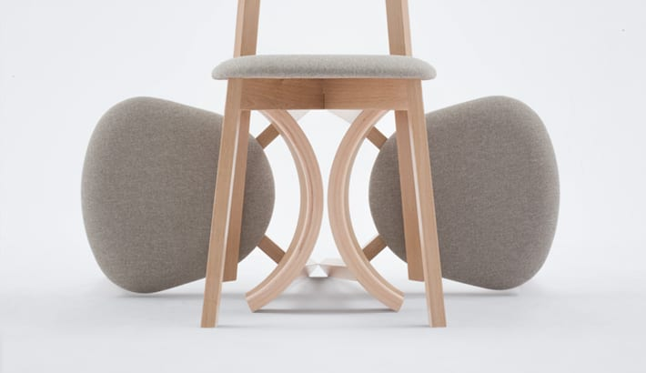 Detal krzeseł z kolekcji UXI