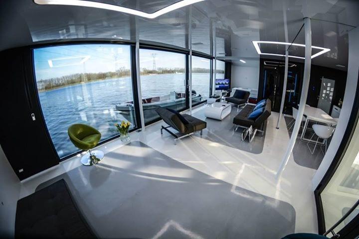 Widok z domku na wodzie projektu DFD.studio dla floatinghouses.eu