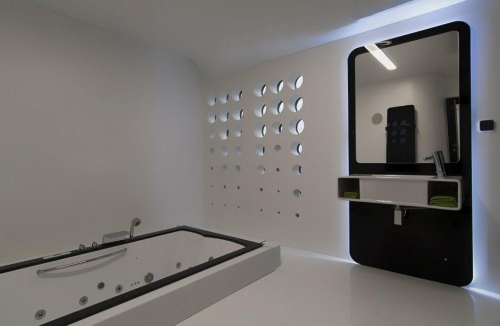 Łazienka w domu na wodzie