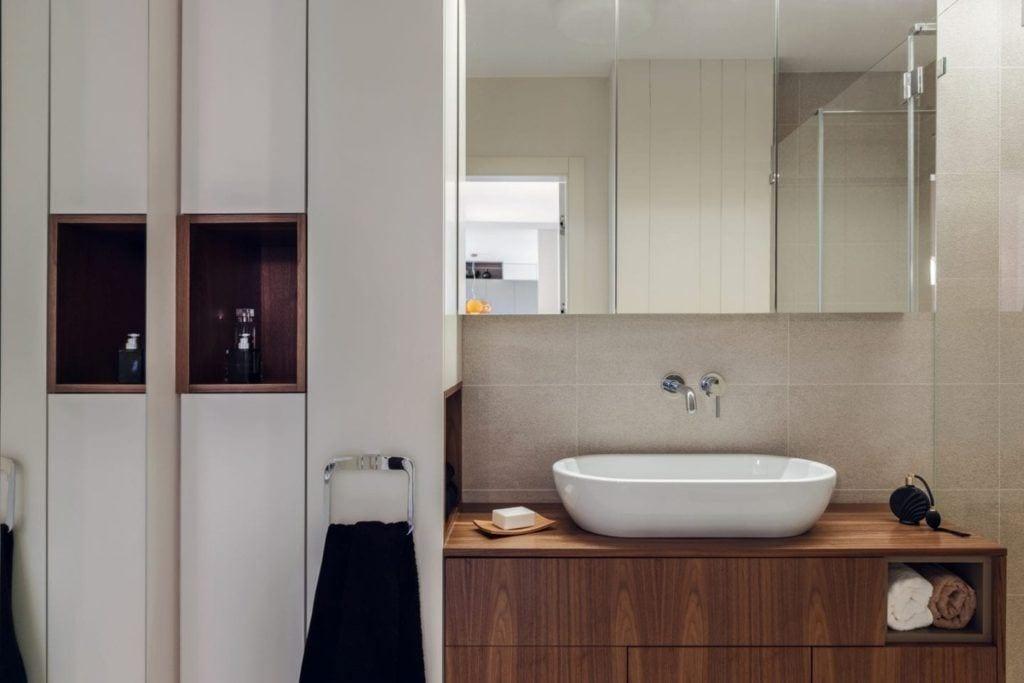 Łazienka w gdyńskim mieszkaniu projektu pracowni formativ