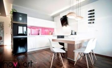 Mieszkanie w stylu nowoczesnym, prostym, ale i funkcjonalnym