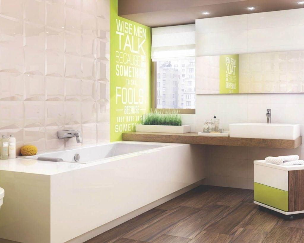 Aranżacja jasnej łazienki - Płytki ceramiczne Ceramika Paradyz kolekcja Maloli