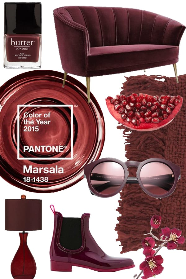 Kolaż Marsala Color of The Year 2015