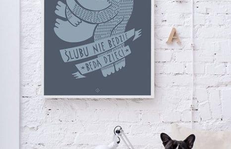 Plakat na ścianę od polskich twórców