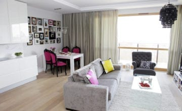 65 m2 w stylu glamour
