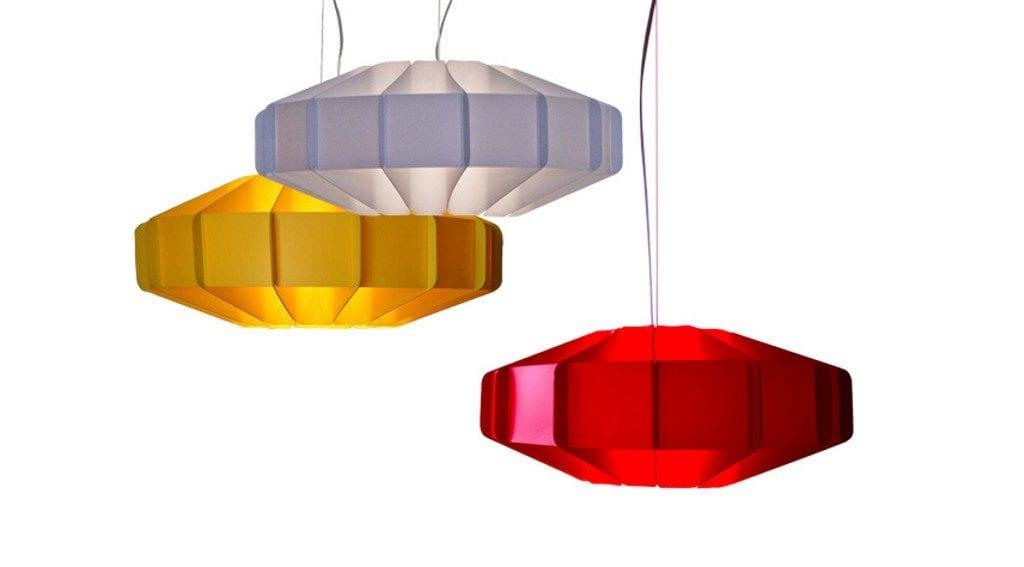 Biała, czerwona i żółta lampa Alien projektu marki Kafti #1
