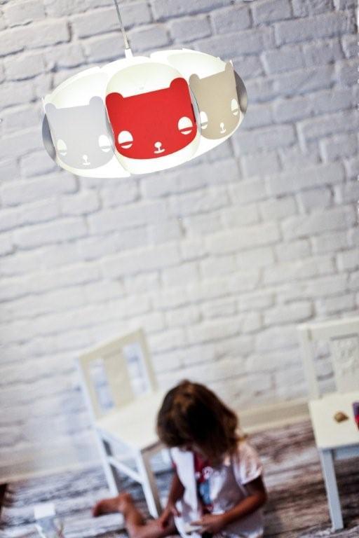 Czerwona lampa Mishka projektu marki Kafti