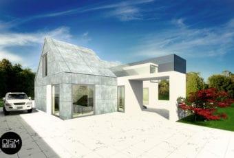 Klasyczna forma domu z dwuspadowym dachem