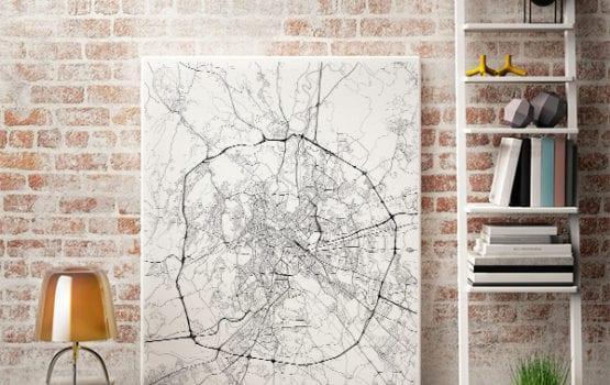 Maptu: mapa na ścianie