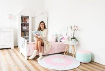 Pokój w bardzo dziewczęcym stylu
