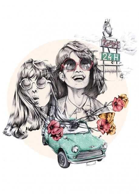 Plakaty Wall-being i wiosna na ścianach - Road trip - Ewelina Dymek