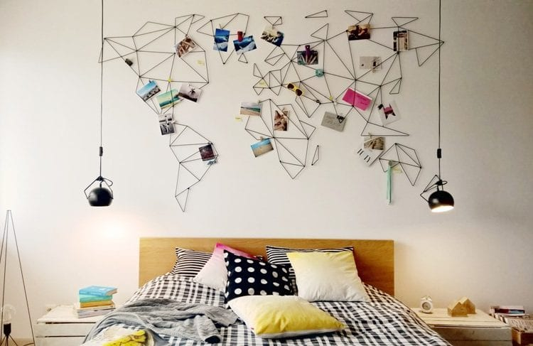 aleDRUCIAK: druciana mapa na ścianę