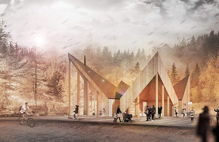 """""""Trzy Korony"""" czyli projekt przystanku w górskim krajobrazie"""