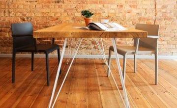 Wood For You: połączenie litego drewna i metalu