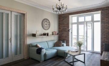 Przestronny apartament w stylu shabby