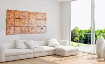 Wood Art Project: ściana w drewnie