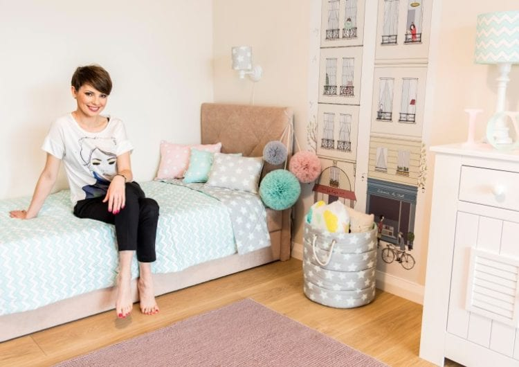 Pastelowy pokój małej dziewczynki