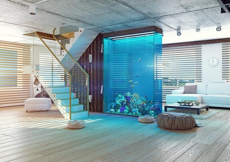 Akwarium – nowy trend wnętrz w stylu nowoczesnym