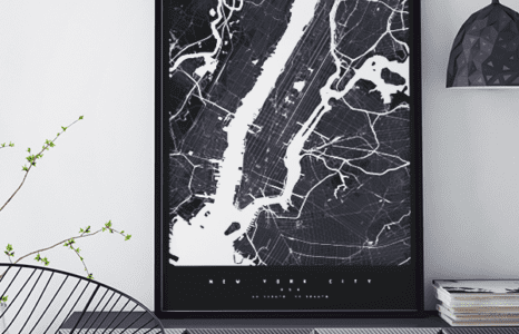 Maptu: biało na czarnym, nowe spojrzenie na mapy