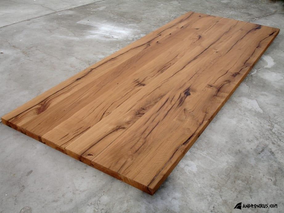 Andronikus jasny blat stołu ze starego drewna, stare deski, drewno z recyklingu