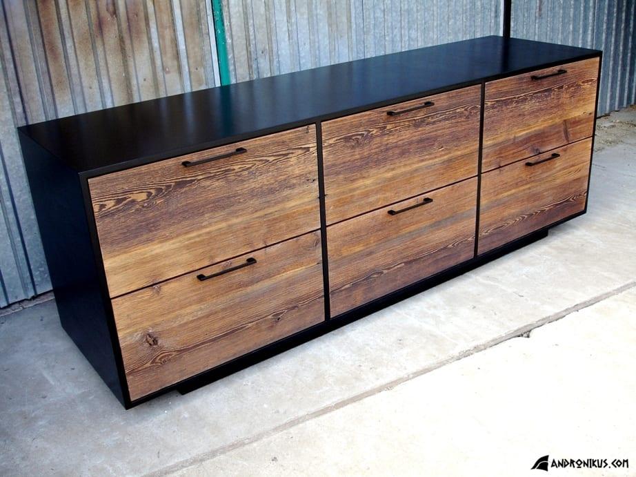 Andronikus komoda ze starego drewna, stare deski, drewno z recyklingu