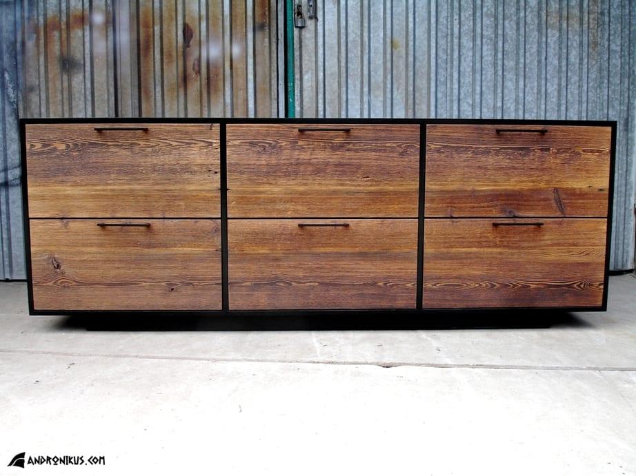 Andronikus front komody ze starego drewna, stare deski, drewno z recyklingu