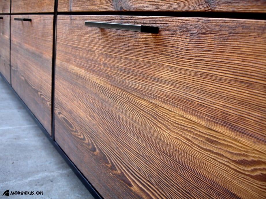 Andronikus szuflada komody ze starego drewna, stare deski, drewno z recyklingu