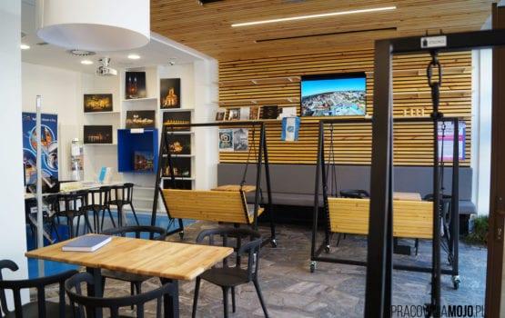 Punkt Informacji Miejskiej połączony z kawiarnią