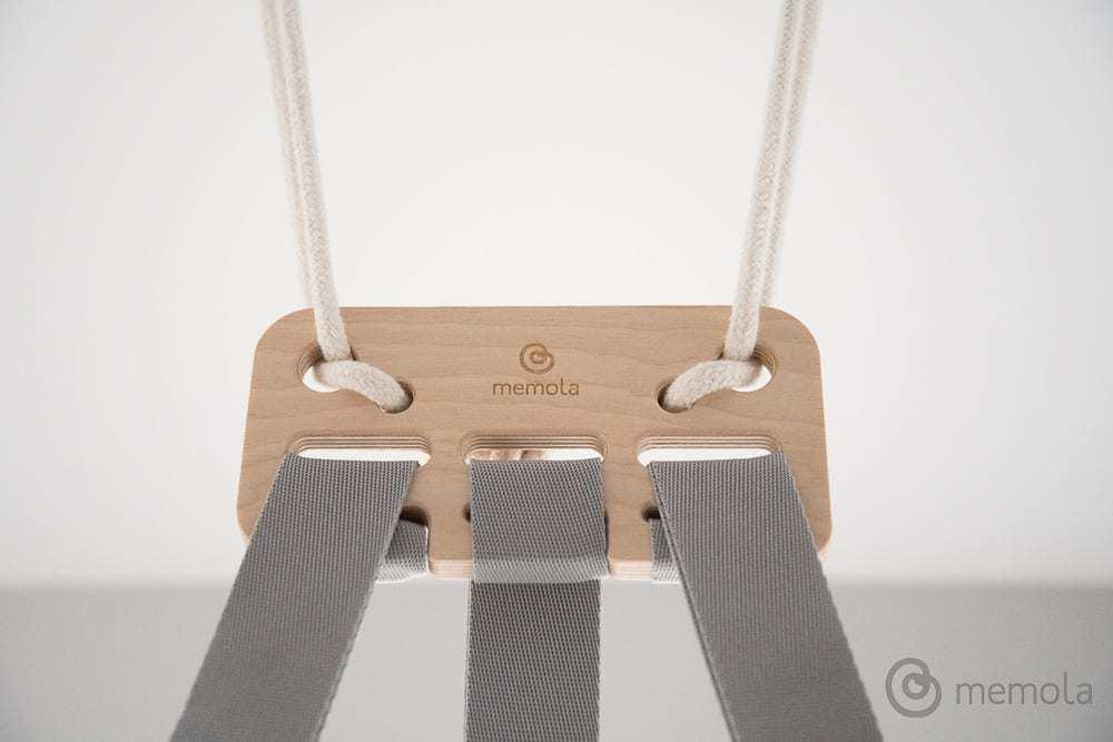 Innowacyjna multisensoryczna kołysko-huśtawka dla dziecka Memola projektu Agnieszki Polinski