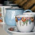Porcelanowe filiżanki od marki Opolskie Dziouchy