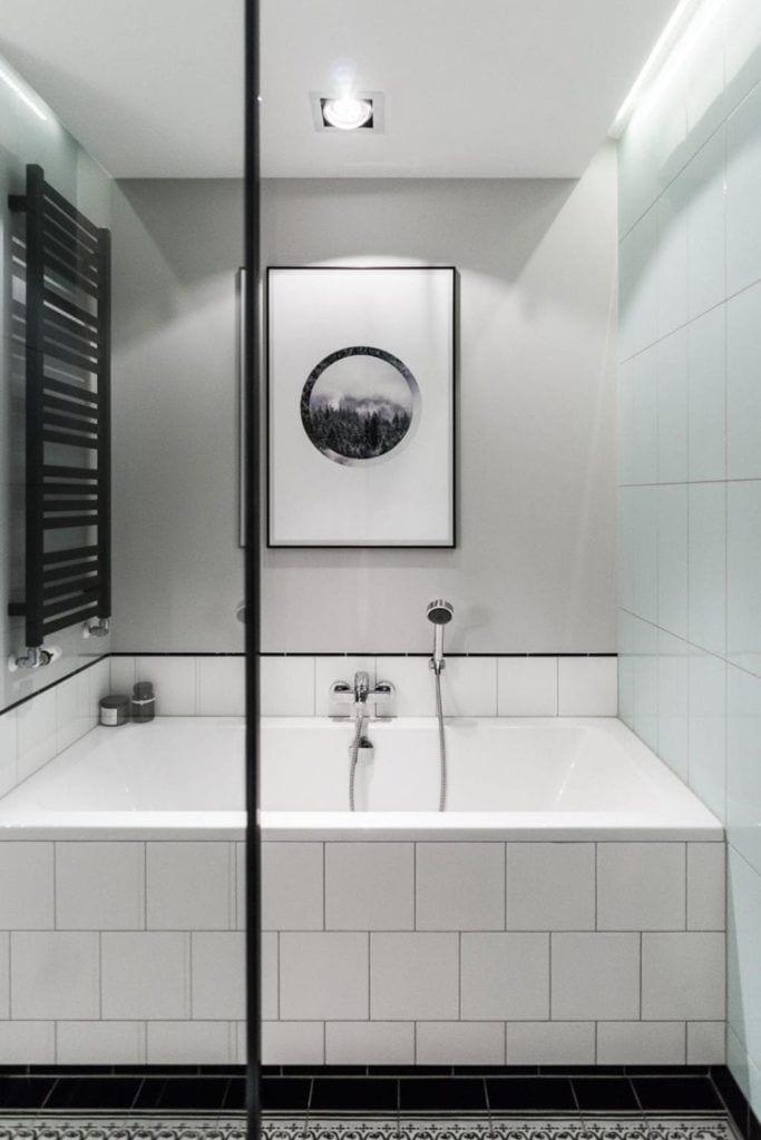 Nowoczesne i przytulne mieszkanie dla pary i jasna łazienka