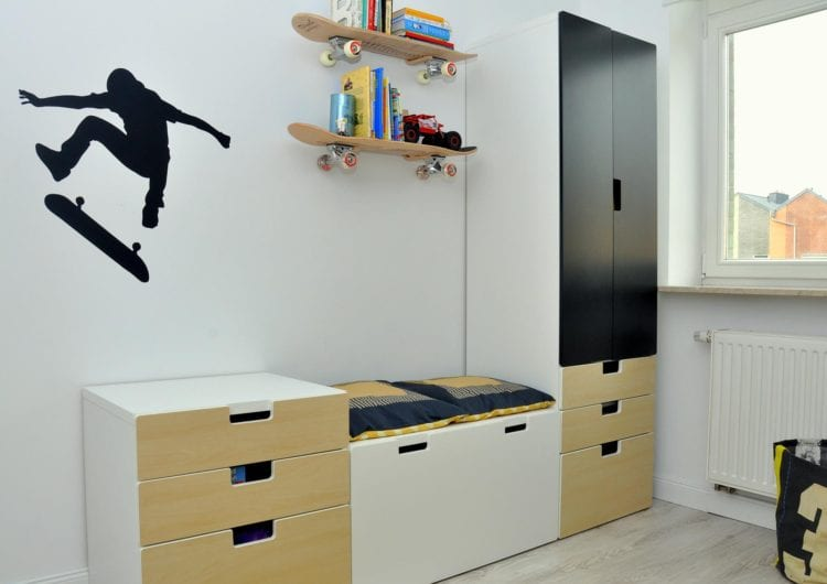 Wydzielone strefy w pokoju dziecka