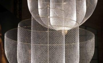 Żyrandol Meshmatics z drucianej siatki