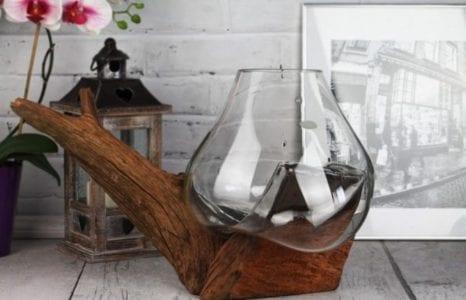 ROOTSDECOR: wazon ze szkła i drewna