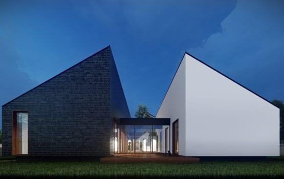 Parterowy dom atrialny projektu biura Perscripta