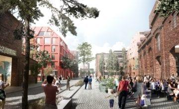Projekt Henning Larsen dla Stoczni Cesarskiej w Gdańsku.