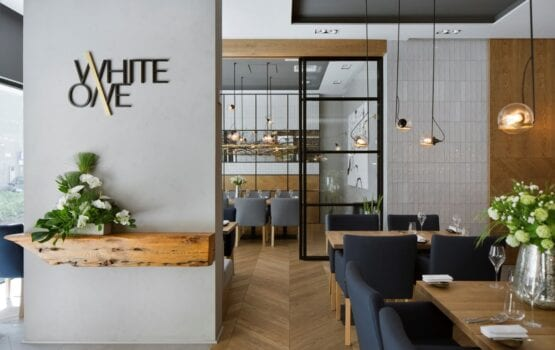 Restauracja WhiteOne – projekt pracowni The Space