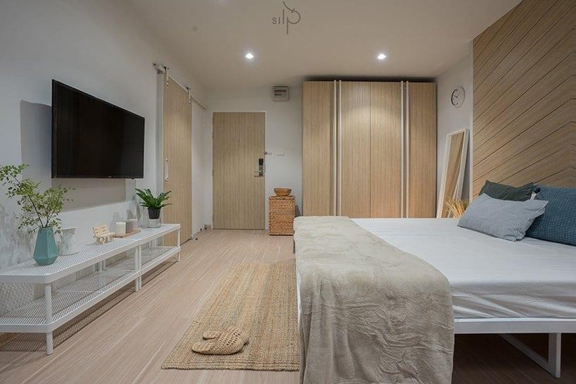 Pokój w akademiku projektu pracowni Silp Architects
