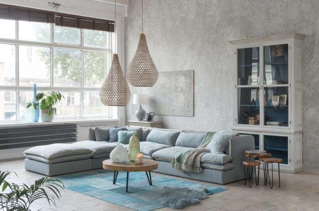 Kolekcja mebli od Miloo Home inspirowana Wabi Sabi - meble w salonie
