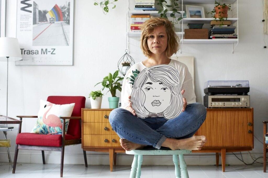 Magda Danaj z Porysunki.com i jej nieoczywiste mieszkanie