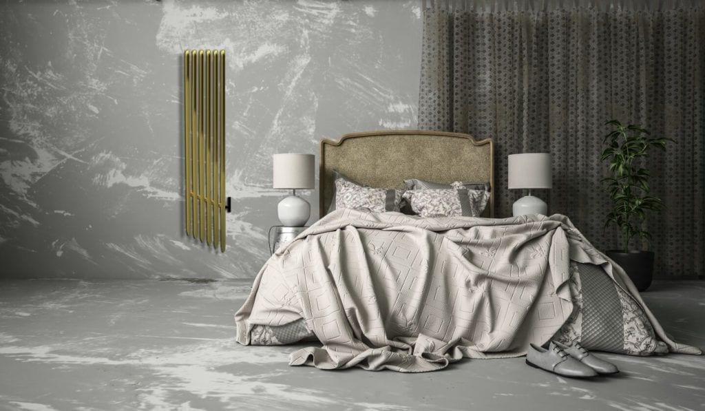 Grzejnik Koliber od polskiej marki Luxrad w sypialni