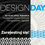 Plakat zapowiadający 4 design days 2018, które odbędzie się w MCK Katowice i Hali Spodek