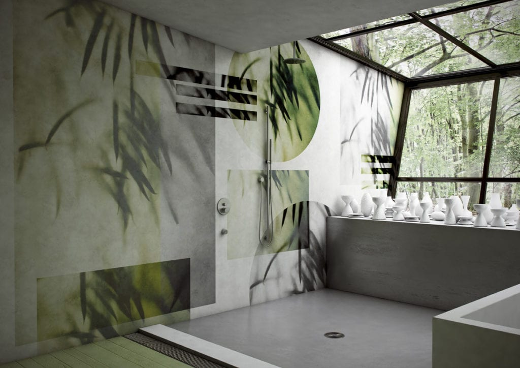 Wodoodporna tapeta z kolekcji GlamFusion od Glamora dostępna w Dekorian Home. Tapeta z zielonymi roślinami.