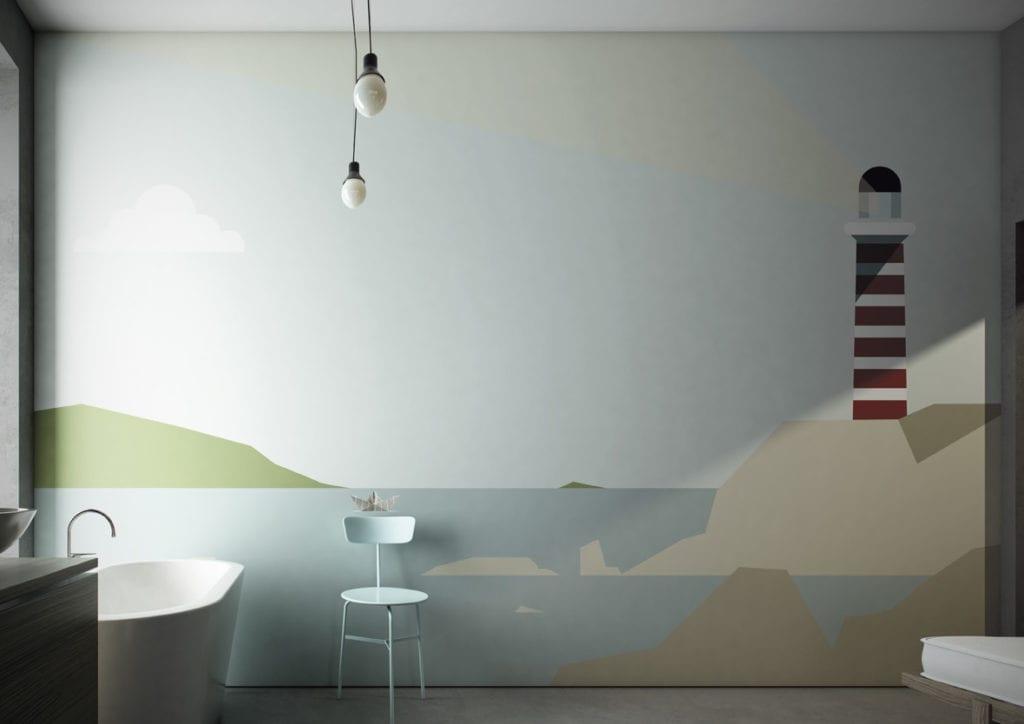Wodoodporna tapeta z kolekcji GlamFusion od Glamora dostępna w Dekorian Home. Tapeta w odcieniach koloru niebieskiego.