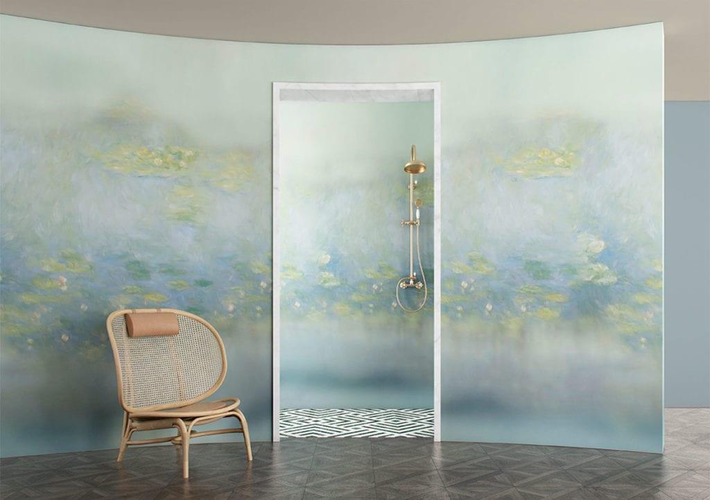 Wodoodporna tapeta z kolekcji GlamFusion od Glamora dostępna w Dekorian Home. Tapeta z wzorem wody.