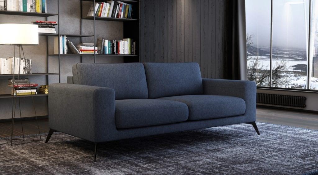 Sofa z kolekcji Vik od Adriana Furniture w kolorze szarym
