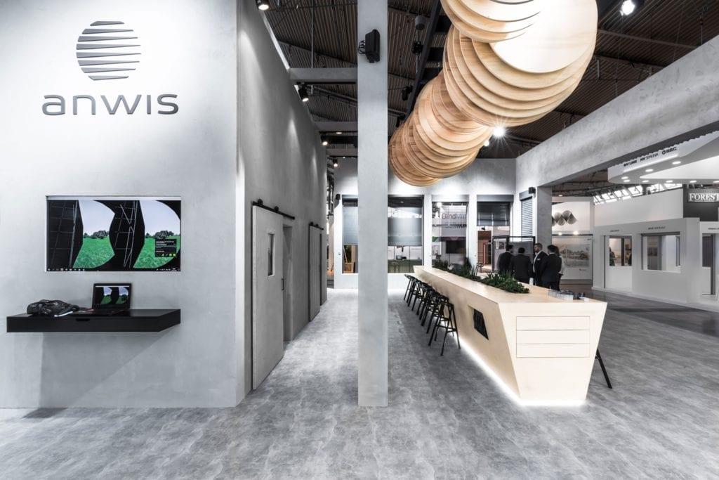 Stoisko marki Anwis w Stuttgarcie, stworzone w VR wirtualnej rzeczywistości przez Vinterior