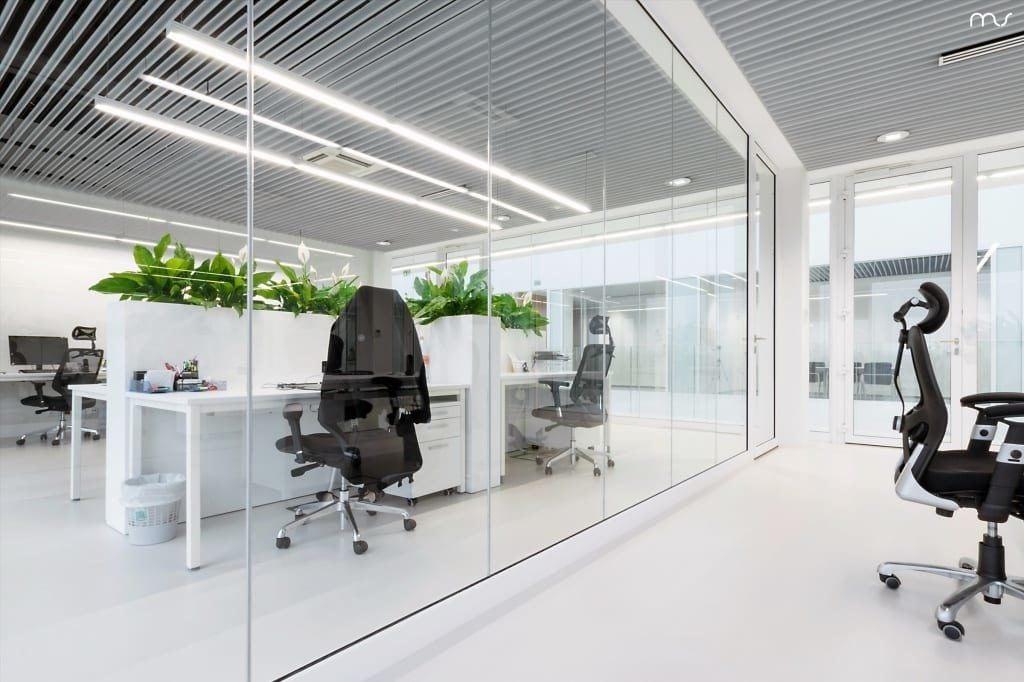 Pokój konferencyjny w siedzibie firmy Pivexin Technology projektu pracowni Mus Architects
