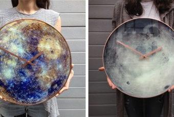Zegar ścienny niczym układ słoneczny