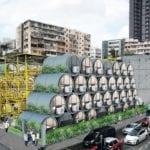 Projekt osiedla mieszkań w rurze OPod Tube Housing